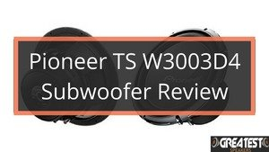 Pioneer TS-W3003D4 Subwoofer Review 2