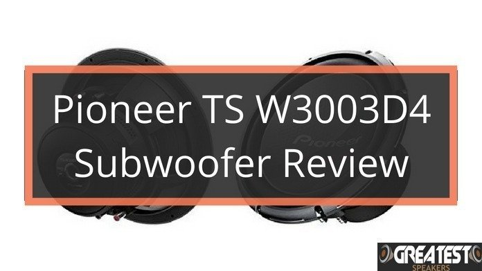 Pioneer TS-W3003D4 Subwoofer Review 1