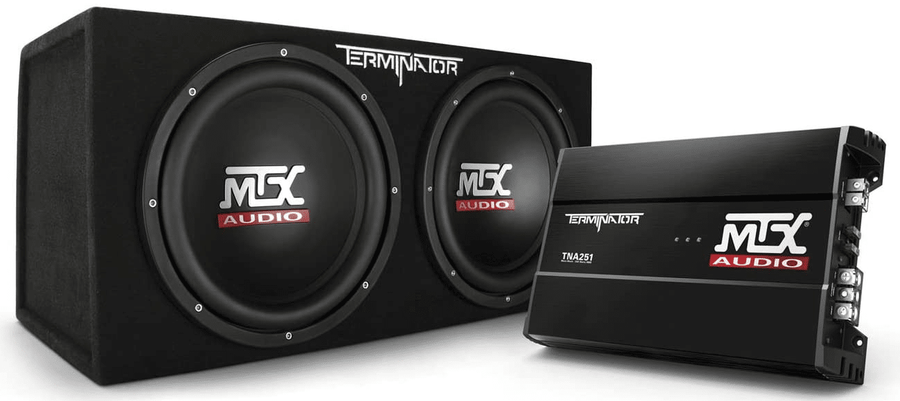 MTX Audio TNP212D2 Terminator Power Pack Subwoofer System - Set of 2,BLACK