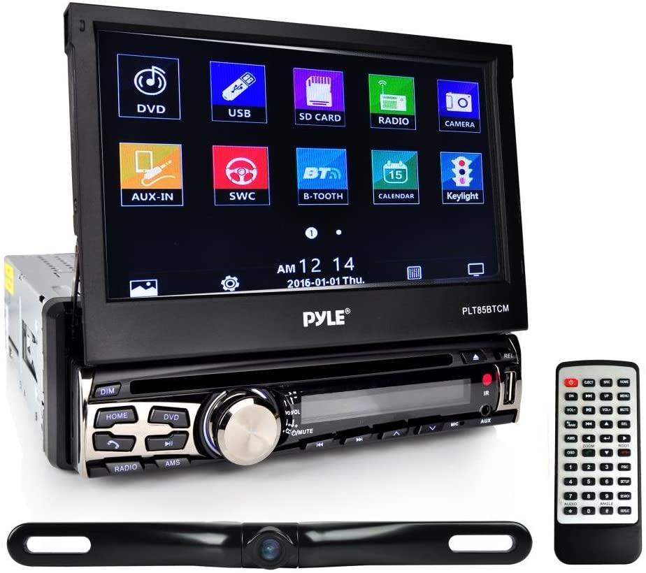 Pyle PLT85BTCM CD/DVD Player Bluetooth Wireless Streaming Hands-Free Talking SB/MP3/AUX/AM/FM Radio Stereo Receiver Black