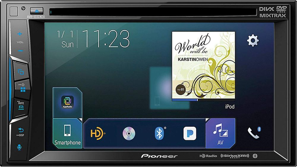 "Pioneer AVH-1300NEX Multimedia DVD Receiver with 6.2"" WVGA Display/Apple CarPlay/Built-in Bluetooth/SiriusXM-Ready/AppRadio Mode"