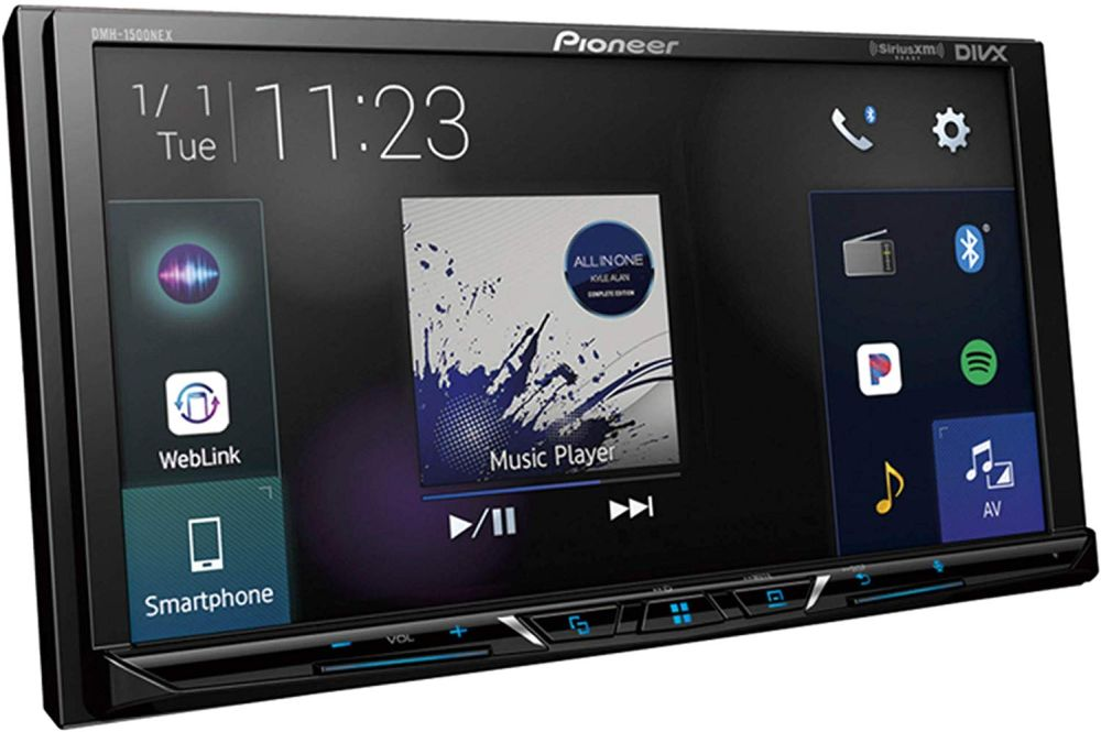 "Pioneer DMH-1500NEX Digital Media Receiver with 7"" WVGA Display, Apple CarPlay, Android Auto, Built in Bluetooth"
