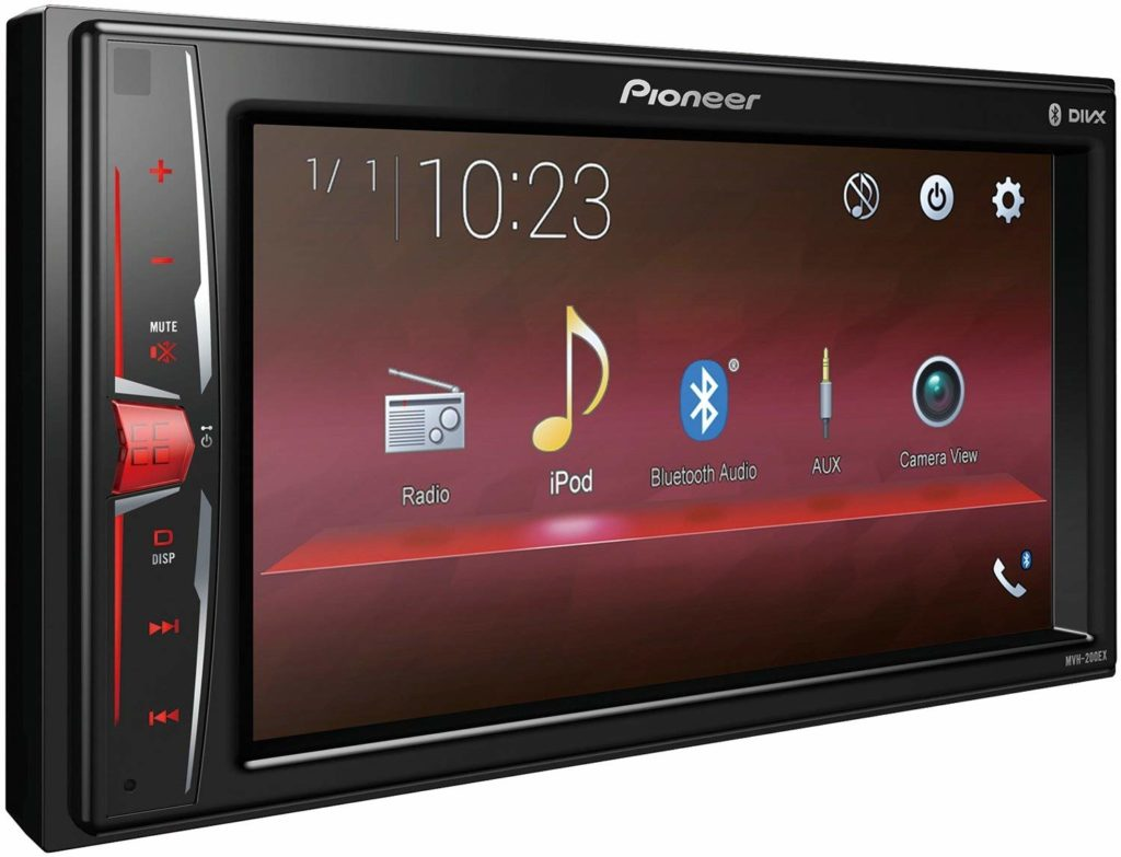 "Pioneer MVH-200EX Digital Multimedia Video Receiver with 6.2"" WVGA Display, and Built-in Bluetooth"