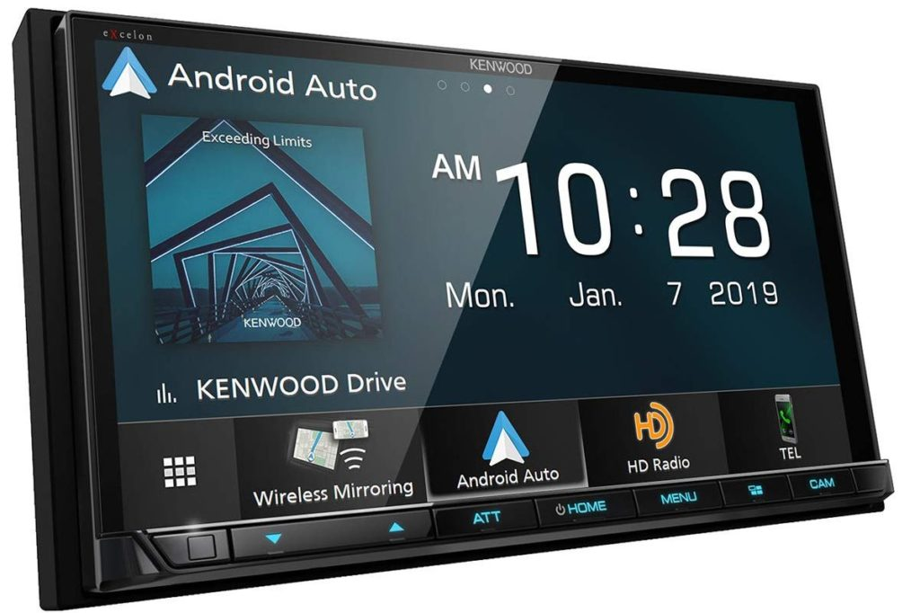 "Kenwood DMX906S 6.95"" Digital Media CarPlay/A.Auto & License Plate Cam"