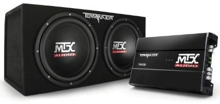 MTX Audio TNP212D2 Terminator Power Pack Subwoofer System Set of 2